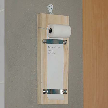 Make a practical shopping list holder