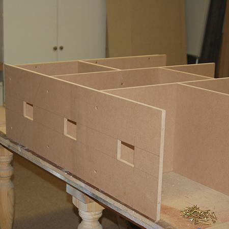 Make a dollhouse bookcase - sides