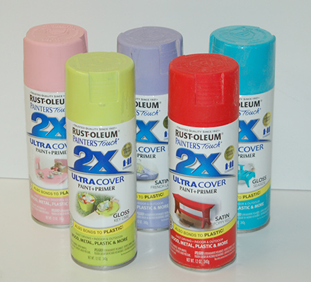 Rust-Oleum 2X is available in so many colour options, both satin and gloss.