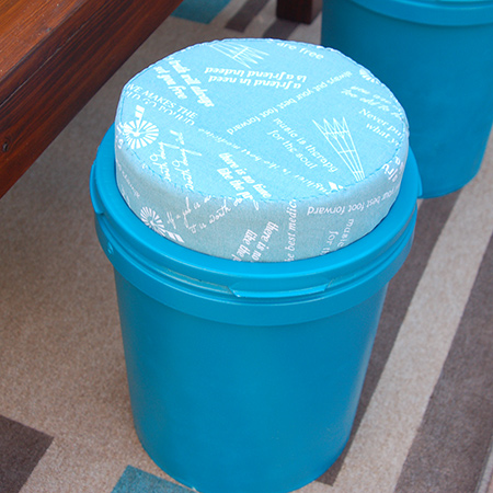 Recycled paint container stools