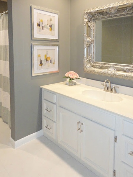 HOME DZINE Bathrooms Bathroom Gets A Cosmetic Makeover - Cosmetic bathroom makeover