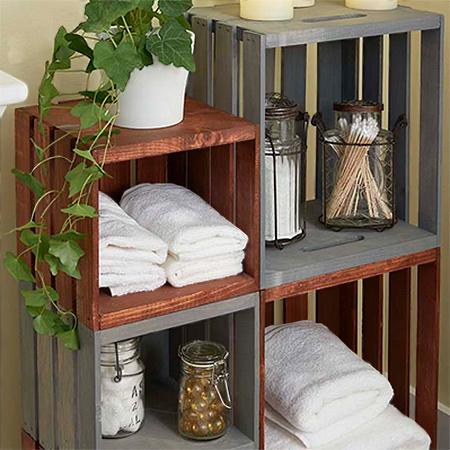 HOME DZINE Craft Ideas | Easy rolling bathroom storage