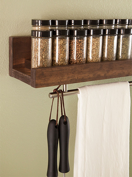 Quick Project: Wooden spice rack