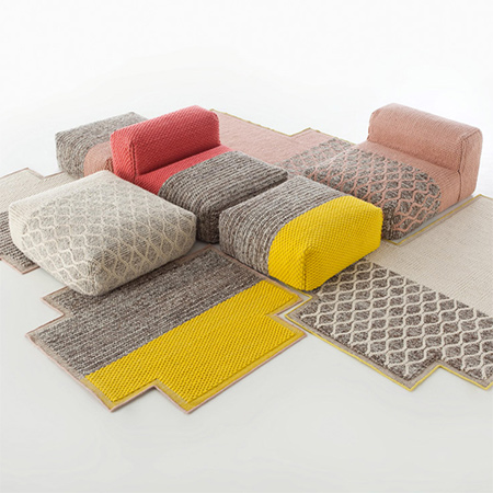 Who would have thought that furniture could be designed with knitted textures and woven designs. Patricia Urquiola's Mangas range mimics the look and feel of your favourite sweater.