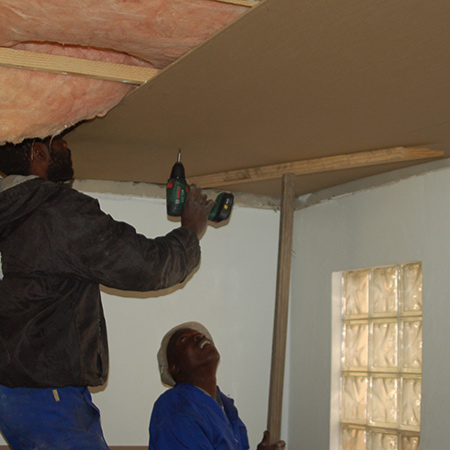 Replace sagging or damaged ceilings