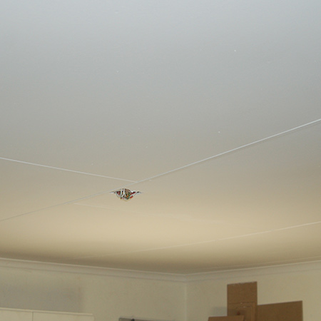 Paint over the ceiling with Prominent Paints high-cover acrylic paint