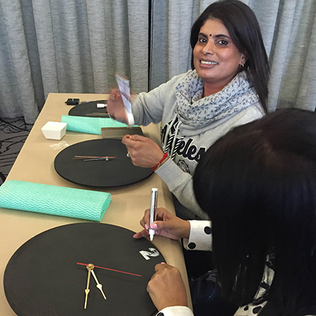 diy divas legacy ladies day at da vinci hotel make a chalkboard clock