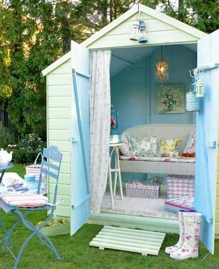 For those who love the idea of a playhouse for the kids but don't have the tools or skills to build one, you could consider buying a small Wendy house or garden hut and converting this into a fun playroom. We offer some ideas for this on Home-Dzine.