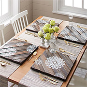 Reclaimed wood placemats