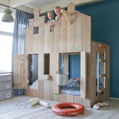 Reclaimed pallets not intended for international shipping are safe to use for kiddies furniture, and you can be inventive with different designs
