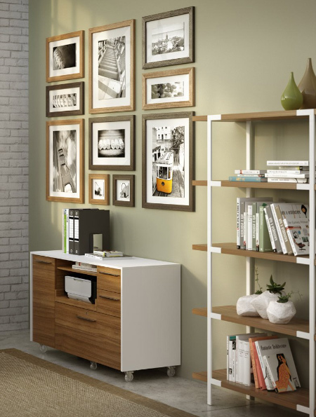 From housing larger books, files or binders, to serving as a spot for computer equipment and electronics, a media cabinet offers sleek storage options