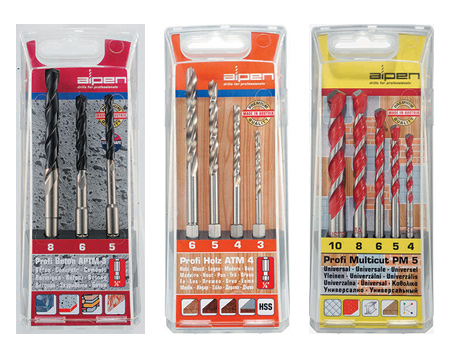 Alpen Profi specialist drill bits from vermont sales and available at builders warehouse