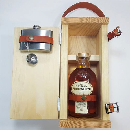 This decorative bottle holder can be used for dad's favourite spirit and he will appreciate the sentiment of a lovingly hand crafted gift.