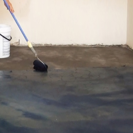 Stain bare concrete floors with CreteStain