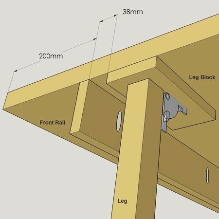 Home Dzine Diy Turn A Bought Door Into Fold Down Worktable - Diy Fold Down Work Table
