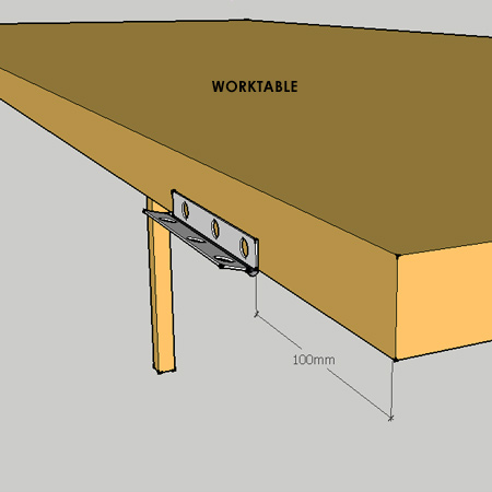 fold-down worktable - table