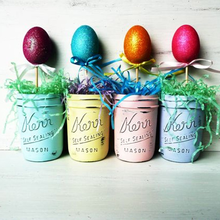 ball mason jar craft ideas for easter
