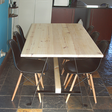 After seeing the R6000 price tag for a wood dining table, I decided to make my own at a fraction of what it would cost to buy one. The project was actually very easy and only took a weekend.