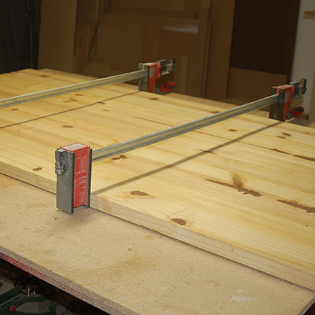 I clamped the entire table with my Bessey clamps overnight.