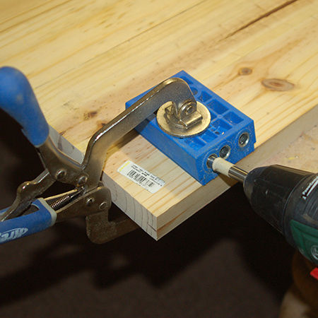 BELOW: As an alternative to using a Biscuit Joiner you could use a Kreg Pockethole Jig.