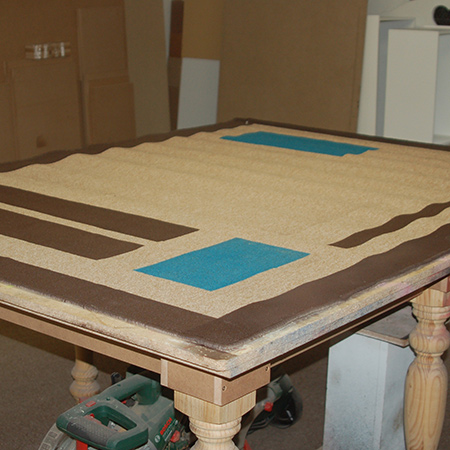 HOME DZINE Craft Ideas | Rust-Oleum sprayed carpet