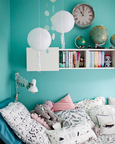 teen room light blue colour selected for walls
