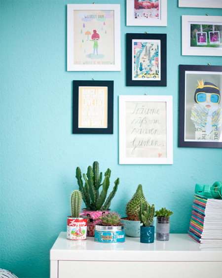 Allow your teen to decorate their room using their own creativity