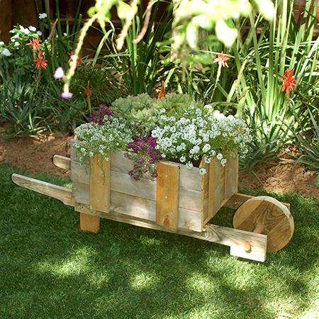 Reclaimed Pallet Wheelbarrow For Plants Or Veggies