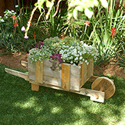 Reclaimed pallet wheelbarrow