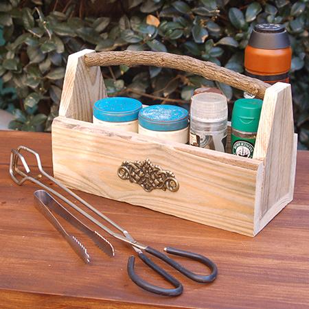 HOME DZINE Craft Ideas | Reclaimed pallet spice or serviette holder