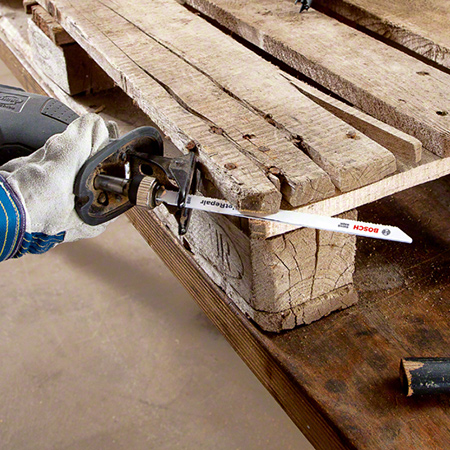 For the professional, Bosch also have an industrial reciprocating sabre saw that makes easy work of cutting through steel nails.