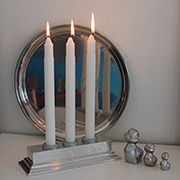 Quick Project: Faux pewter candleholder
