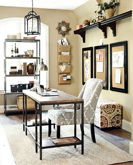 beautiful home office ideas - easy to make desk