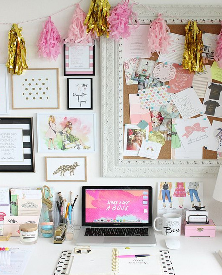 beautiful home office ideas - walls for organisation