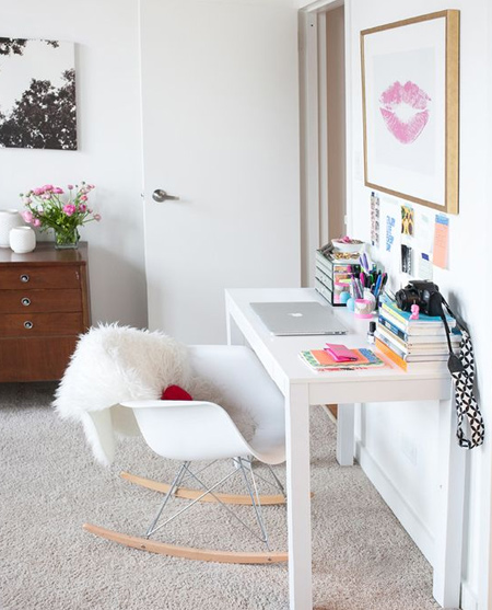 beautiful home office ideas - small and compact