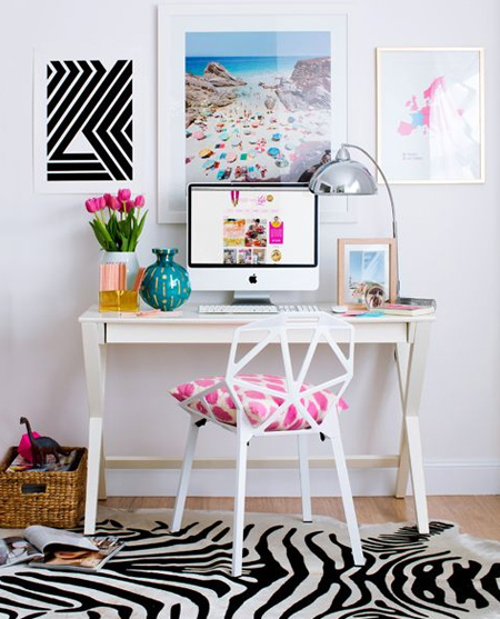 beautiful home office ideas - modern organised work space