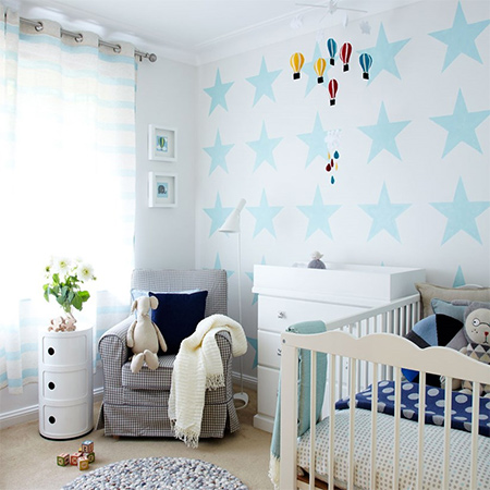 Use our star template and Prominent Paints Sheen in your choice of colour to create a magical star nursery for your little one.