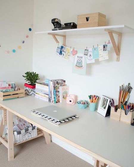 beautiful home office ideas - neat and organised