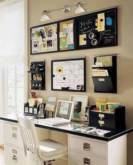 beautiful home office ideas - well organised