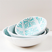 Make your own stamped clay bowls