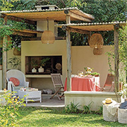 Casual outdoor entertaining