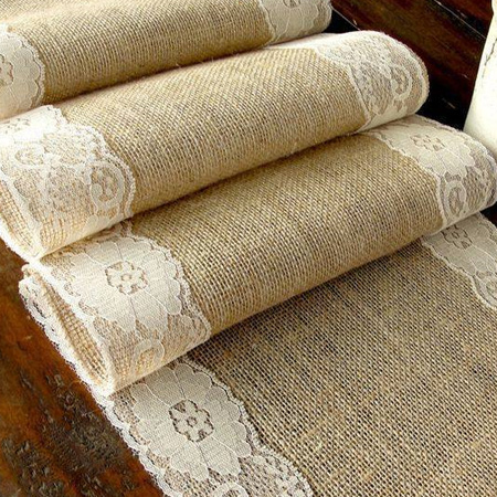 Inexpensive burlap decor
