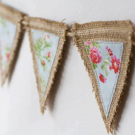 Want more burlap decor ideas? Make your own bunting or garlands with burlap.
