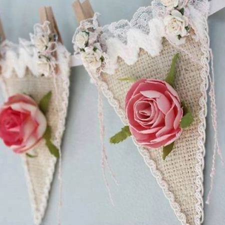 There are so many ways to create your own personalised bunting with paint or fabric scraps.