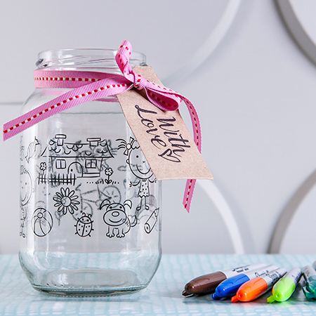 The new range of Consol Colouring in Jars is available in two sizes – a 1L or 3L jar – and can be purchased with or without six colourful Sharpie markers.