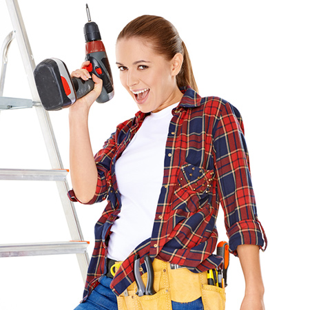 In the 21st century, women are more DIY savvy than ever and no longer have to rely on hubby to fix things. With lightweight, cordless Bosch power tools and a Builders store around the corner, women have everything they need at their carefully manicured fingertips - and don't need to break a nail to do it.