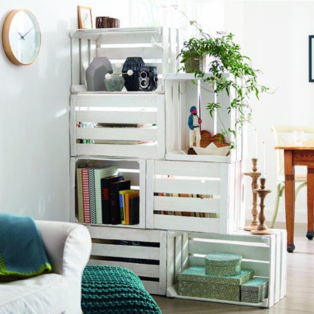 You can use a room divider to maximise a small area and create a focal point in your living space. We show you how to make a simple room divider using wooden crates, and that can be completed in three easy steps in about five hours.