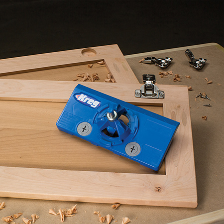 Kreg launches concealed hinge jig and hinge bit from vermont sales