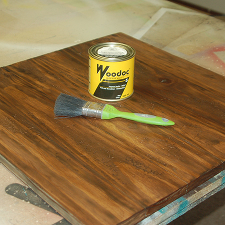 After applying the stain I finished off with Woodoc 5 Polywax Sealer. This dries to a matt finish that is perfect for that reclaimed or worn wood look.