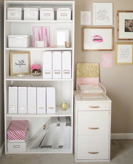 beautiful home office ideas - storage cabinets